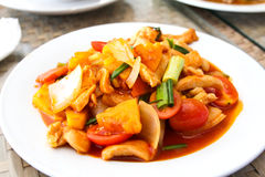 Sweet and sour chicken Royalty Free Stock Image