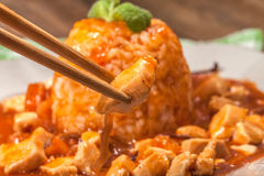 Sweet and sour chicken. Royalty Free Stock Photography