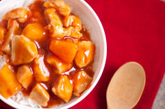 Sweet and sour chicken Stock Photos