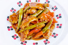 Sweet and sour chicken top angle Stock Photo