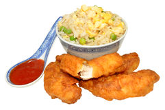 Sweet And Sour Chinese Battered Chicken Stock Image
