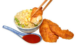 Sweet And Sour Chinese Battered Chicken Royalty Free Stock Image