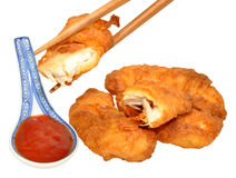 Sweet And Sour Chinese Battered Chicken Stock Photos