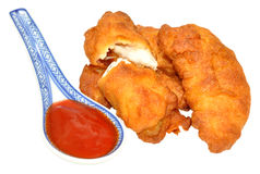 Sweet And Sour Chinese Battered Chicken Stock Images