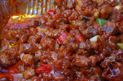 Sweet and sour Chinese chicken close up Royalty Free Stock Photography