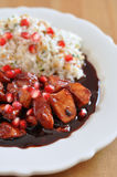 Sweet and sour cranberry chicken Royalty Free Stock Images