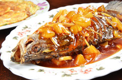 Sweet and sour fish Royalty Free Stock Photography