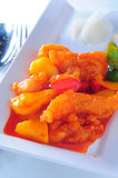 Sweet sour fish fillet Stock Photo