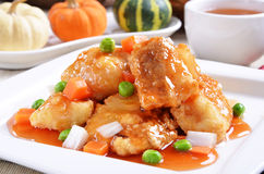 Sweet and sour fish fillet Stock Image