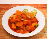 Sweet and sour fish Royalty Free Stock Images