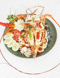 Sweet and sour lobster Stock Photography