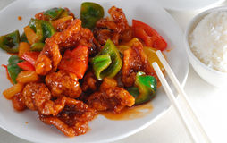 Sweet and sour pork Royalty Free Stock Photos