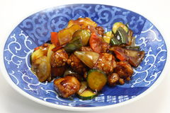 Sweet and sour pork. This is a picture of sweet and sour pork dinner which I ate in one day Stock Photos