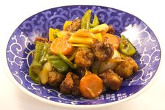 Sweet and sour pork. This is a picture of sweet and sour pork for dinner one day Stock Photos