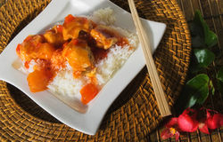 Sweet and sour pork Royalty Free Stock Images