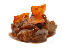 Sweet and sour pork with cassava Royalty Free Stock Images