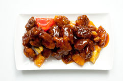 Sweet and sour pork Stock Image