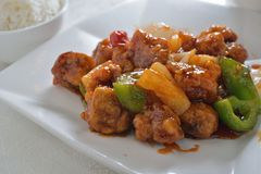 Sweet and sour pork. Deep Fried sweet and Sour pork Stock Photos