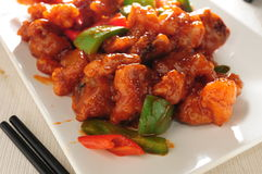 Sweet sour pork. Fried sweet and Sour pork Stock Photography