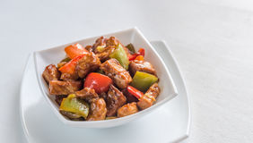 Sweet and sour pork Royalty Free Stock Image