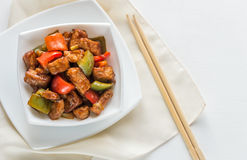 Sweet and sour pork Royalty Free Stock Photography