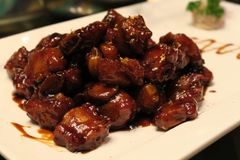 Sweet and sour pork ribs Royalty Free Stock Image