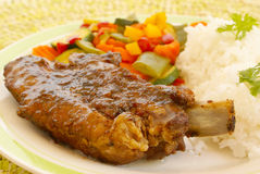 Sweet sour pork ribs Royalty Free Stock Image