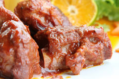 Sweet and sour pork ribs Stock Photos