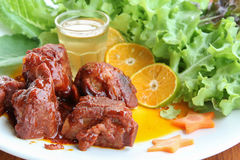 Sweet and sour pork ribs Stock Images
