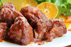 Sweet and sour pork ribs Royalty Free Stock Photos