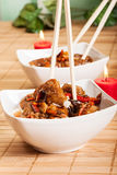 Sweet and sour pork and rice Royalty Free Stock Photos