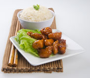 Sweet and sour pork saia food Royalty Free Stock Image