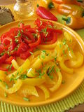Sweet and sour salad with cooked pepper Royalty Free Stock Images