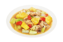 Sweet and sour sauce fried with chicken Stock Photography