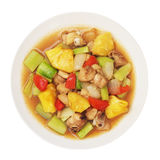 Sweet and sour sauce fried with chicken Royalty Free Stock Photos