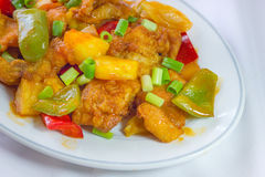 Sweet and sour sauce fried with pork Stock Images