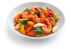 Sweet and sour shrimp Stock Photos