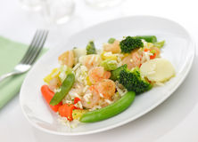 Sweet and sour shrimp dinner Stock Photography