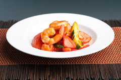 Sweet and Sour Shrimp Thai Dish Stock Photography
