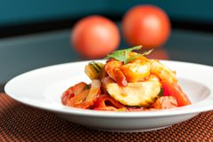 Sweet Sour Shrimp Royalty Free Stock Image