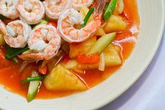 Sweet and sour shrimp. In thailand Royalty Free Stock Photo