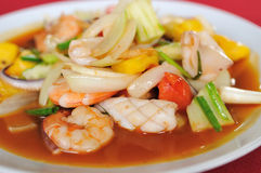Sweet and sour shrimp Stock Photo