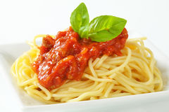 Sweet and sour spaghetti Stock Photo