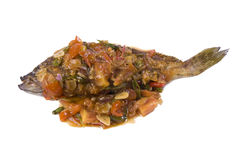 Sweet sour and spicy fish Stock Photos
