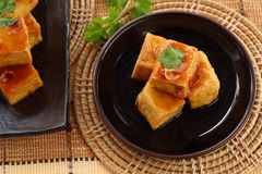Sweet and sour  tofu. Royalty Free Stock Image