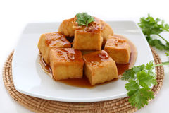 Sweet and sour  tofu. Royalty Free Stock Images