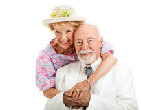 Sweet Southern Senior Couple Royalty Free Stock Photography