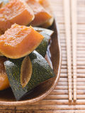 Sweet Soy simmered Pumpkin Royalty Free Stock Photos