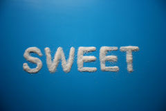 SWEET Spelled with Sugar Stock Images