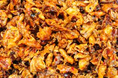 Sweet and spicy dried squid Royalty Free Stock Images
